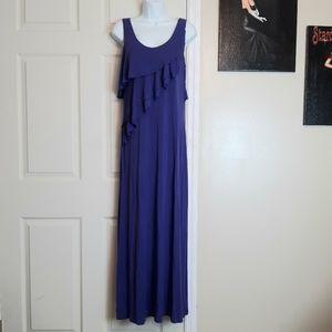 Calvin Klein Purple Sleeveless Maxi Dress